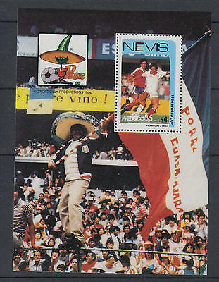 XG-T183 ST KITTS & NEVIS IND - Football, 1984 Mexico '86 World Cup MNH Sheet