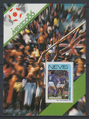XG-T184 ST KITTS & NEVIS IND - Football, 1984 Mexico '86 World Cup MNH Sheet