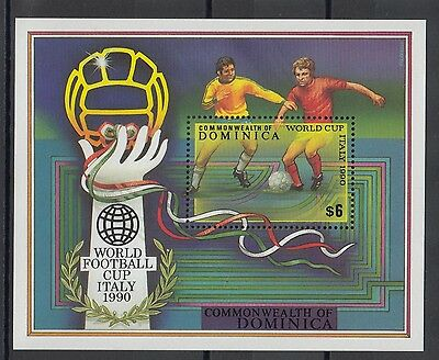 XG-T196 DOMINICA IND - Football, 1990 Italy '90 World Cup MNH Sheet
