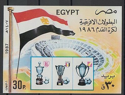 XG-T200 EGYPT - Football, 1987 Africa Cup Imperf. MNH Sheet