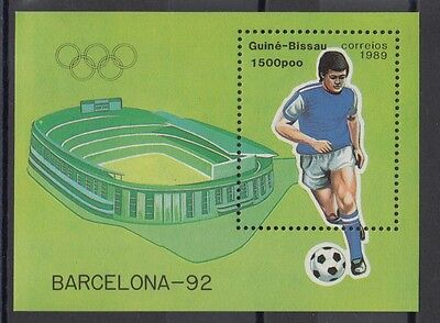 XG-T212 GUINEA-BISSAU - Olympic Games, 1989 Barcelona 1992, Football MNH Sheet