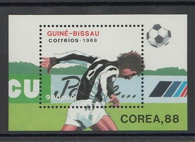 XG-T216 GUINEA-BISSAU - Football, 1988 Korea Seoul '88 Olympic Games MNH Sheet