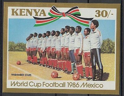 XG-T222 KENYA - Football, 1986 Mexico '86 World Cup, Imperf. MNH Sheet