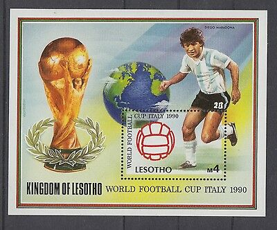 XG-T227 LESOTHO - Football, 1990 Italy '90 World Cup, Maradona MNH Sheet