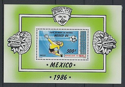 XG-T234 MALI IND - Football, 1986 Mexico '86 World Cup MNH Sheet
