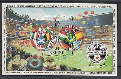 XG-T253 BELIZE - Football, 1986 Mexico World Cup '86 MNH Sheet
