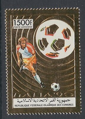 XG-T315 COMOROS IND - Football, 1990 Italy '90 World Cup Gold Foil MNH Set