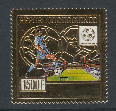 XG-T317 GUINEA - Football, 1990 Italy '90 World Cup Gold Foil MNH Set
