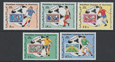XG-T330 MAURITANIA IND - Football, 1986 Mexico '86 World Cup, SOS MNH Set