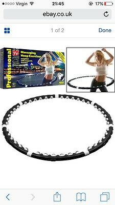 Hula Hoop Weighted Magnetic Fitness Exercise Massager Abs Workout Free P&p