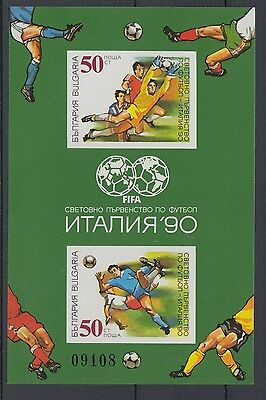 XG-T412 BULGARIA - Football, 1990 Italy '90 World Cup, Imperf. MNH Sheet