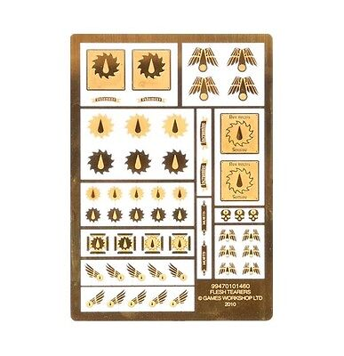 Warhammer 40,000 Space Marines Flesh Tearers Etched Brass Icons/Symbols (40k)
