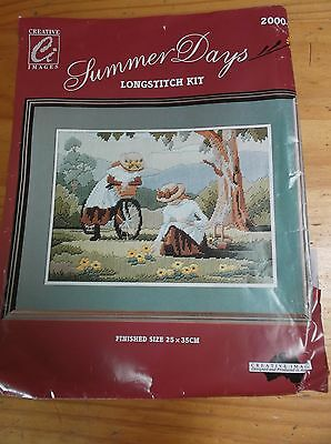 Unworked Creative Images Long Stitch Kit. Summer Days