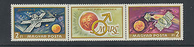 XG-T635 HUNGARY - Space, 1972 Results On March Research MNH Set