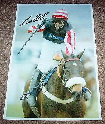 SALE GRAHAM LEE HORSE RACING HAND SIGNED PHOTO AUTHENTIC GENUINE + COA - 12x8