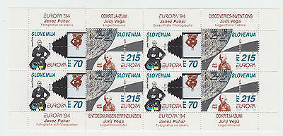 XG-T692 SLOVENIA - Europa Cept, 1994 Discoveries And Inventions MNH Sheet