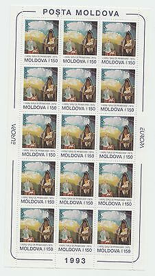 XG-T694 MOLDOVA - Europa Cept, 1993 Paintings MNH Sheet