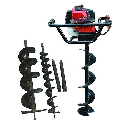 82CC Post Hole Digger with 3 Auger extensions