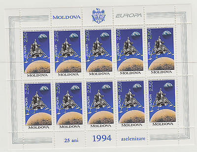 XG-T706 MOLDOVA - Europa Cept, 1994 2.50, Space Exploration MNH Sheet