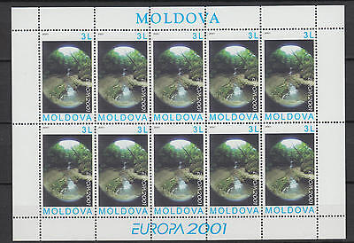 XG-T791 MOLDOVA - Europa Cept, 2001 Water, Natural Resource MNH Sheet