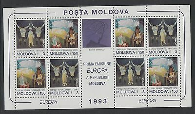XG-T895 MOLDOVA - Europa Cept, 1993 Paintings MNH Sheet