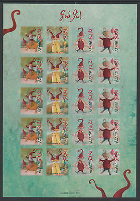 XG-T921 ALAND - Christmas Seals, 2007 Charity Stamps, Not Folded MNH Sheet