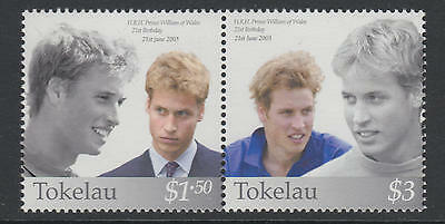 XG-T993 TOKELAU ISLANDS - Royalty, 2003 Prince William Birthday, Pair MNH Set