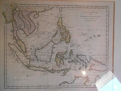 1794 map of islands channels between china/new holland,T  Conder