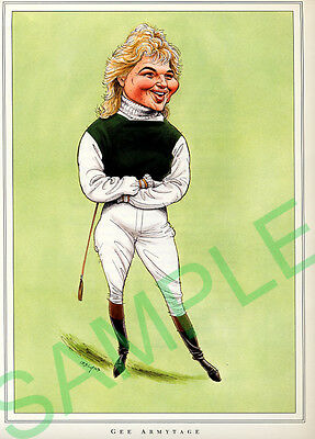 Framed caricature of Gee Armytage by John Ireland