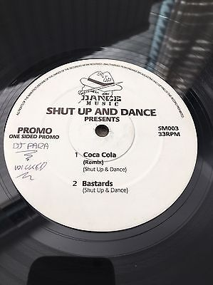 Shut up And Dance-Coca Cola (remix)/Bastards- Sided Promo Record 1994 Jungle DnB
