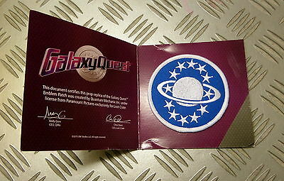 """Galaxy Quest Badge Embroidered Patch Sew or Iron-on 3.5"""" Blue Technician"""