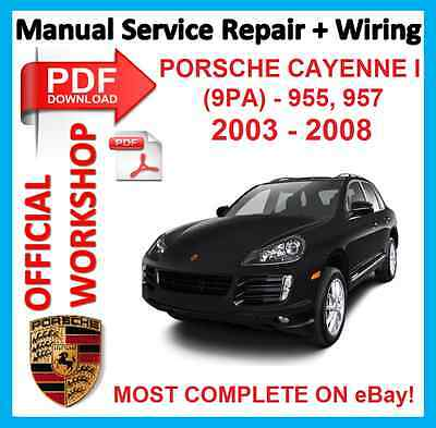 # OFFICIAL WORKSHOP MANUAL service repair WIRING Porsche Cayenne I 9PA 955 957