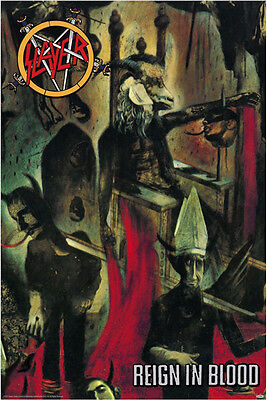 """Slayer Reign in Blood Album Cover Art Poster 24"""" x 36"""""""