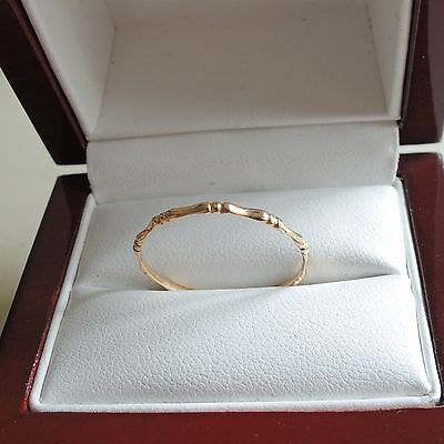 14ct Gold Bamboo Skinny Stacking Thumb Ring
