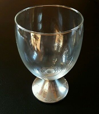 glass with hallmarked silver base - Telders Competition 1995