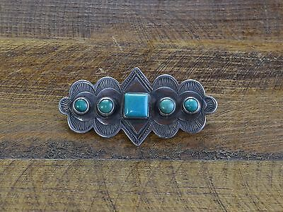 Vintage Turquoise Sterling Silver Pin by Don Lucas