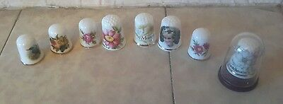 Collection of bone China thimbles