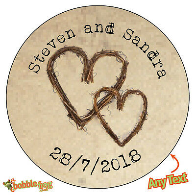 249 35x BABY SHOWER Personalised FEET Shabby Brown Kraft Effect Favour Stickers