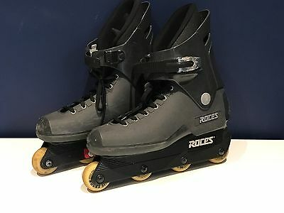 Roces M12 AGGRESSIVE  inline roller skates / blades. Mens - Black Size UK 10