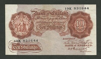 BANK OF ENGLAND - Peppiatt 10 sh  1948  B262  About VF  ( Banknotes )