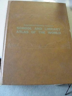 1950s OVERSIZED GEOGRAPHICAL PUB CO SCHOOL AND LIBRARY ATLAS OF THE WORLD