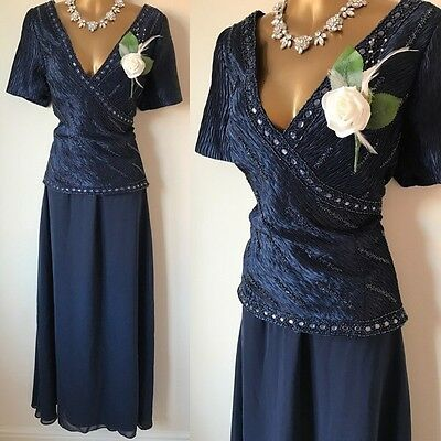 GINO CERUTTI Dress SIZE 16/18 Curve Cruise Mother Of The Bride OCCASION Wedding.