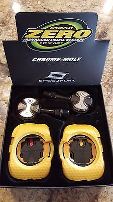 Speedplay Zero Chromoly Pedals Includes WALKABLE Cleats - Black - NEW