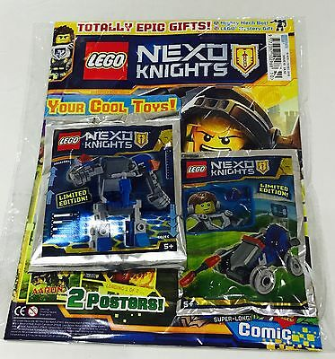 Lego Nexo Knights Magazine #10 - Totally Epic Gifts! (X2 Lego Toys!)
