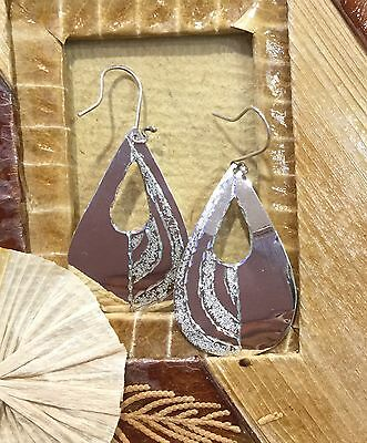 Mexican Earrings Sterling Silver .925 Hammered Teardrop Design Fair Trade New.