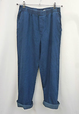 Vintage 1990s Cotton High Waisted Indigo Blue Mom Jeggings Jeans Grunge 12