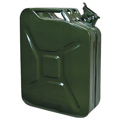 Green Metal Jerry Fuel Can - 20 Litre Capacity