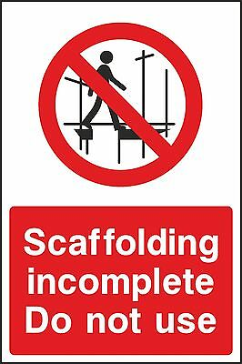 Scaffolding Safety Sign (V7CONS0023) VAT Invoice Supplied