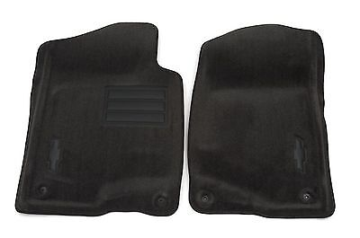 GM Accessories 19157338 Front Carpeted Floor Mats in Cashmere with Bowtie Logo General Motors