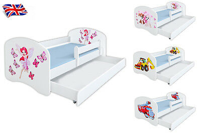 JUNIOR TODDLER WOODEN BED WHITE FRAME FREE MATTRESS 140x70cm many designes